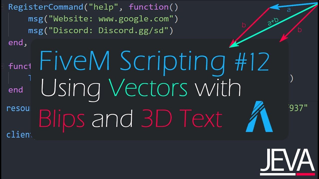 FiveM Scripting 12 - Using Vectors to Create Blips and 3D Text