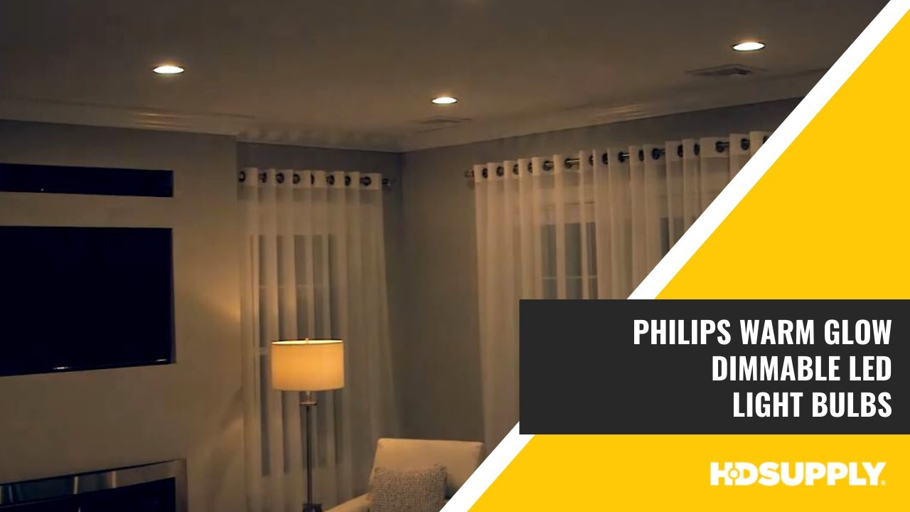 philips warm glow dimmable led light bulbs hd supply facilities maintenance youtube. Black Bedroom Furniture Sets. Home Design Ideas