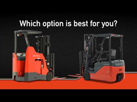 Stand Up Rider Forklift vs  3-Wheel Electric Forklift - Toyota