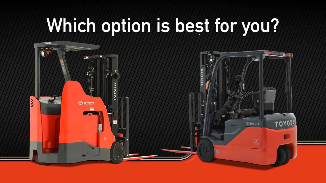 Toyota Material Handling | Stand Up Rider Forklift vs  3-Wheel Electric  Forklift