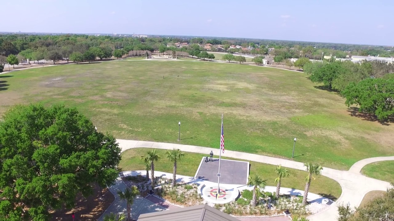 Fly with Drone in Baldwin park to blue jacket park, Orlando - YouTube