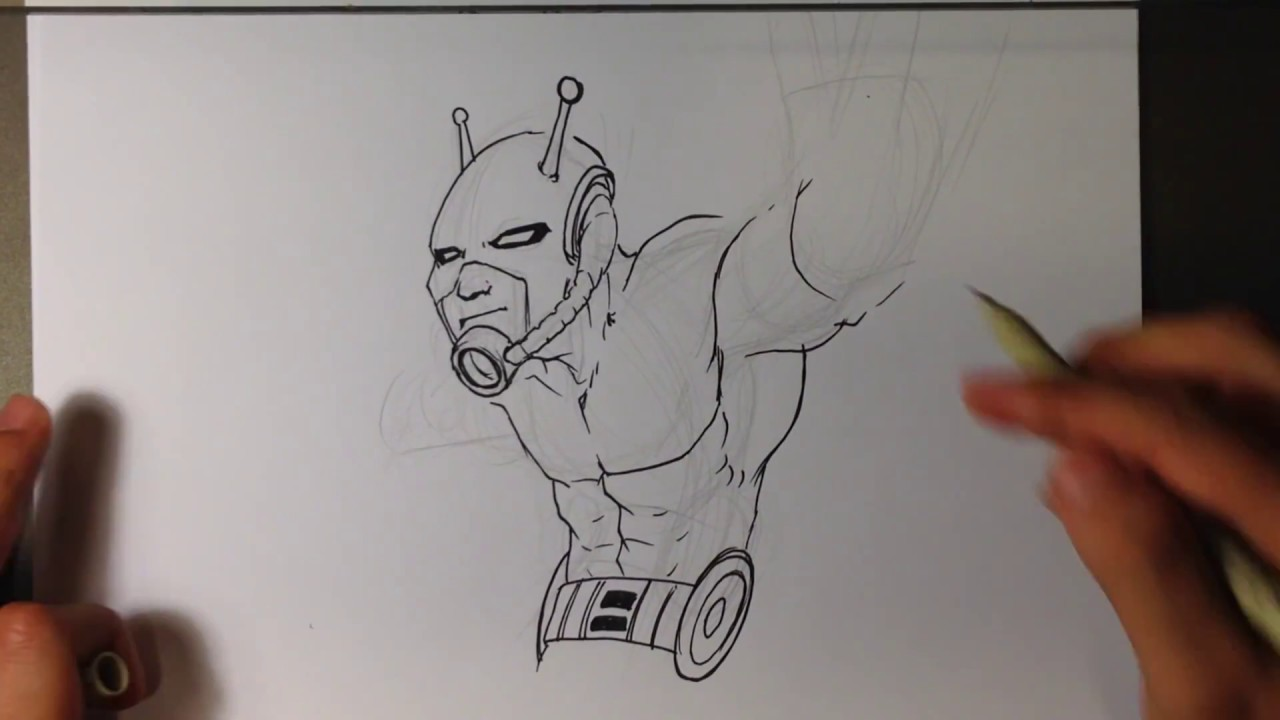 how to draw ant-man - easy pictures to draw