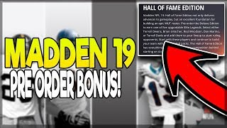 MADDEN 19 HALL OF FAME PRE ORDER BONUS REVEALED! CHOSE ONE OF FIVE GOATS! RELEASE DATE CONFIRMED!!