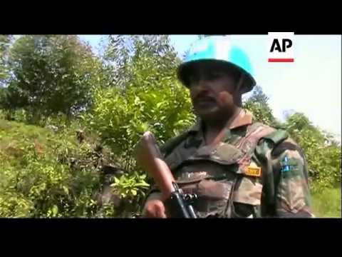 UN SOLDIERS PATROL JOINTLY WITH DR CONGO FORCES TO PROTECT AID CORRIDOR