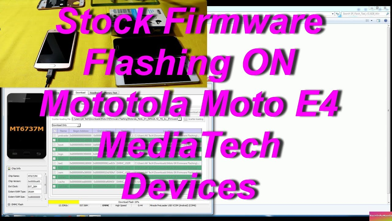 Moto E4 Stock Firmware Flashing MediaTech (URDU+HINDI)
