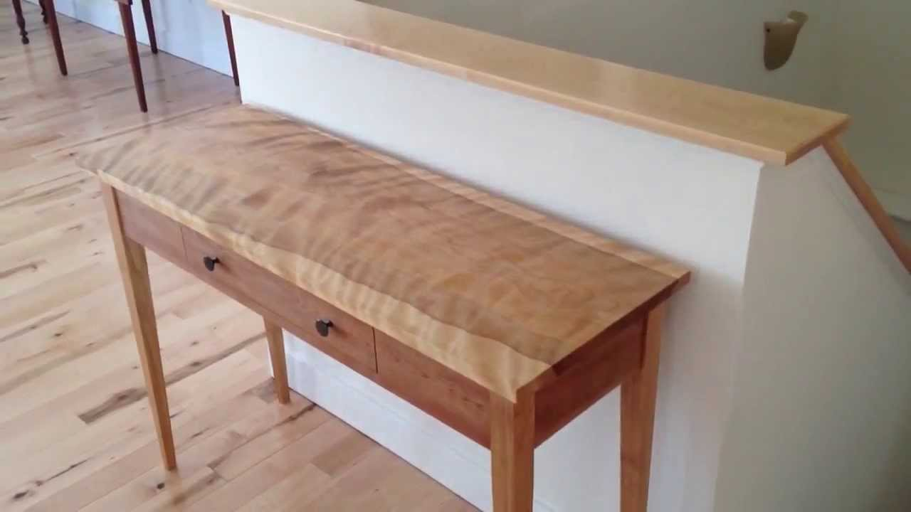 Handmade Shaker Hall Table Custom Made In Vermont By Hawk Ridge Furniture    YouTube