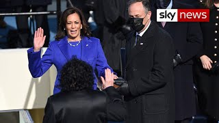 History made as Kamala Harris is sworn in as Vice President of the United States