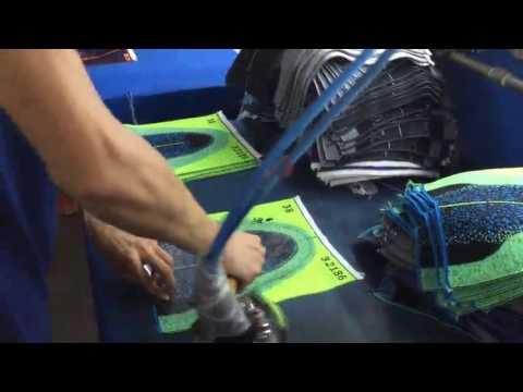 sports shoe upper knitting wovening making machine3 youtube