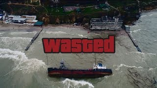 Кораблекрушение сел на мель и перевернулся корабль , Танкер Delfi Одесса