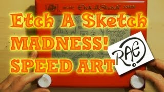 etch a sketch madness surreal drawing speed art by raeart