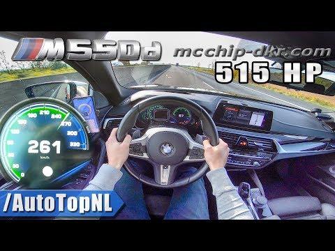 BMW M550d xDrive 5 Series G30 515HP McChip 261km/h AUTOBAHN POV by AutoTopNL