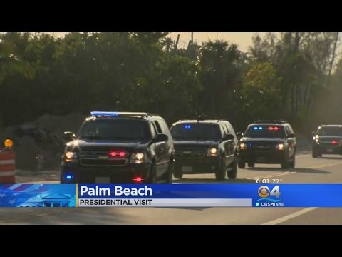 Trump Arrives At His 'Winter White House' In Palm Beach To Attend Red Cross Fundraiser