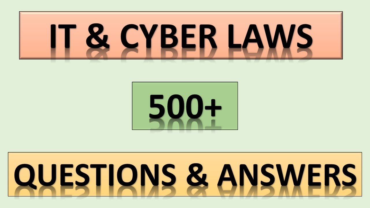 KERALA PSC || IT & CYBER LAWS || 500+ QUESTIONS AND ANSWERS || DEGREE EXAMS