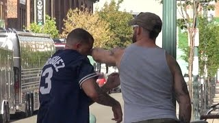 Social Experiment: Sports Rivalry Boston vs. New York PUNCHED IN FACE!