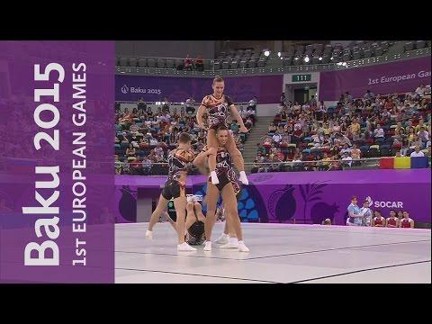 Hungary win Group Aerobic Gold | Gymnastics Aerobic | Baku 2015 European Games