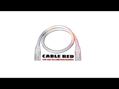 Video de Cable de red UTP CAT5E 5 M Blanco