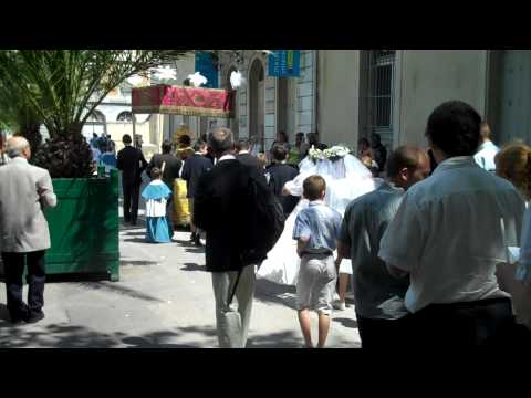 Grenoble, France outdoor church procession