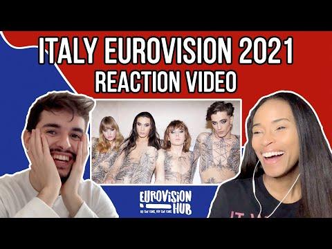Italy | Eurovision 2021 Winner Reaction | Måneskin – Zitti e buoni | Eurovision Hub