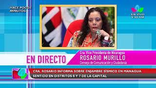 (EN VIVO) Compañera Rosario en comunicación con las familias nicaragüenses