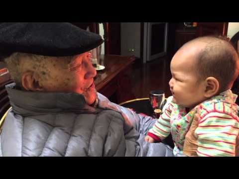 Vy Thanh with great grandpa