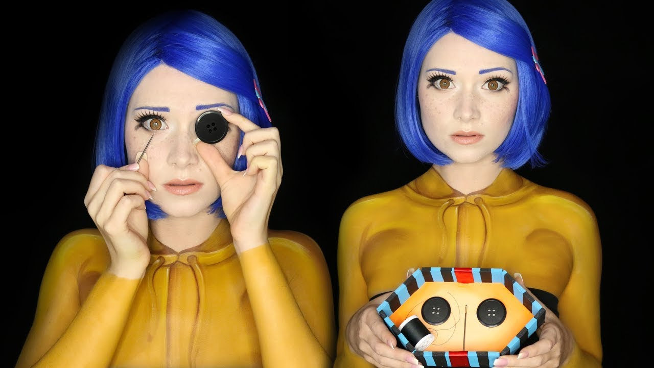 Other Mother Coraline Halloween Makeup Tutorial Youtube