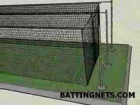 Outdoor Batting Cage Cable Kit Suspension   YouTube