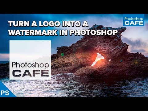 how to convert a logo into a watermark in Photoshop tutorial