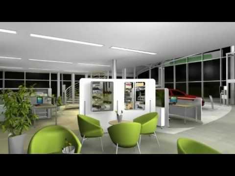 3d Animation Virtual Fiction Skoda Auto Showroom Concept 2009