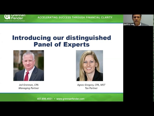 Grennan Fender May 12, 2020 Video Conference - PPP Loan Forgiveness & More!