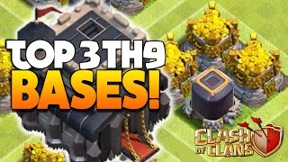 """Clash Of Clans - TOP 3 TH9 FARMING BASE 2016! """"NEW UPDATE!"""" - CoC BEST TOWN HALL 9 DEFENSE 2016!"""