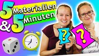 BASTEL CHALLENGE 5 Materialien 5 Minuten | Eva & Kathis schnelle Bastelideen DIY Inspiration deutsch