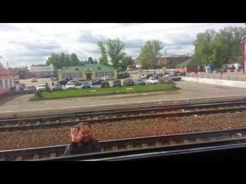 Савременый сидячий поезд Масква Саранск.