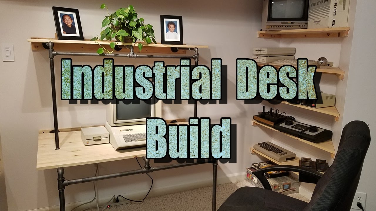 Industrial Computer Desk Build - YouTube