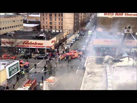 FDNY BATTLING A MAJOR 3 ALARM FIRE ON BURNSIDE AVENUE IN THE BRONX, NEW YORK CITY.