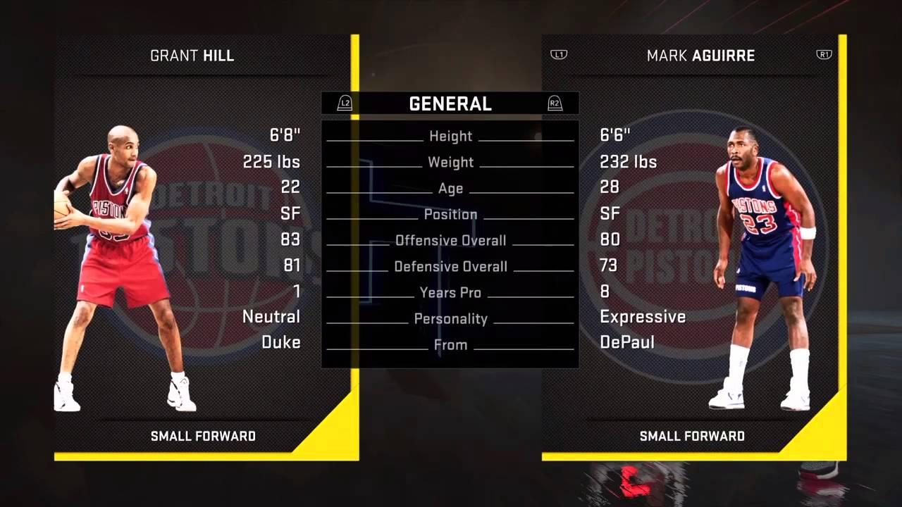 NBA2K16 Road To Diamond Kareem 6 Mark Aguirre Multiple Dynamic