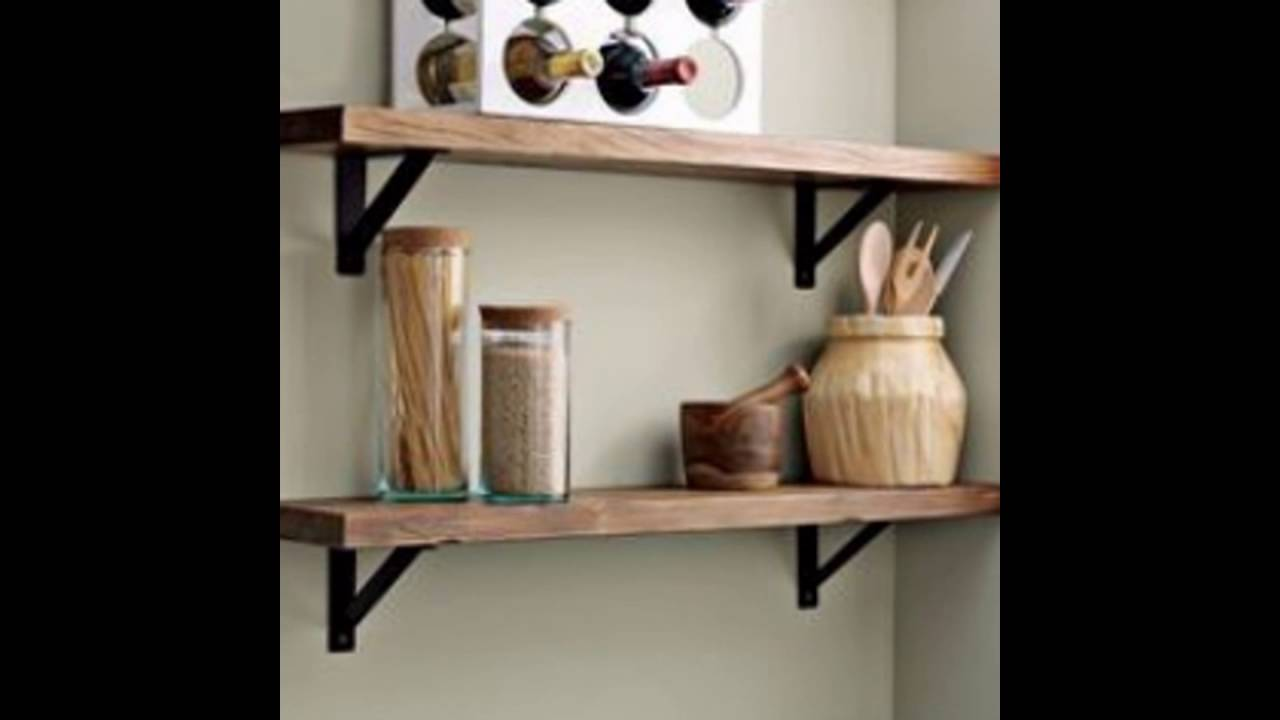 wall shelves brackets - YouTube