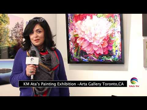 KM Ata's Painting Exhibition - Arta Gallery Toronto, CA, Report by Dawood Jan @TAG TV