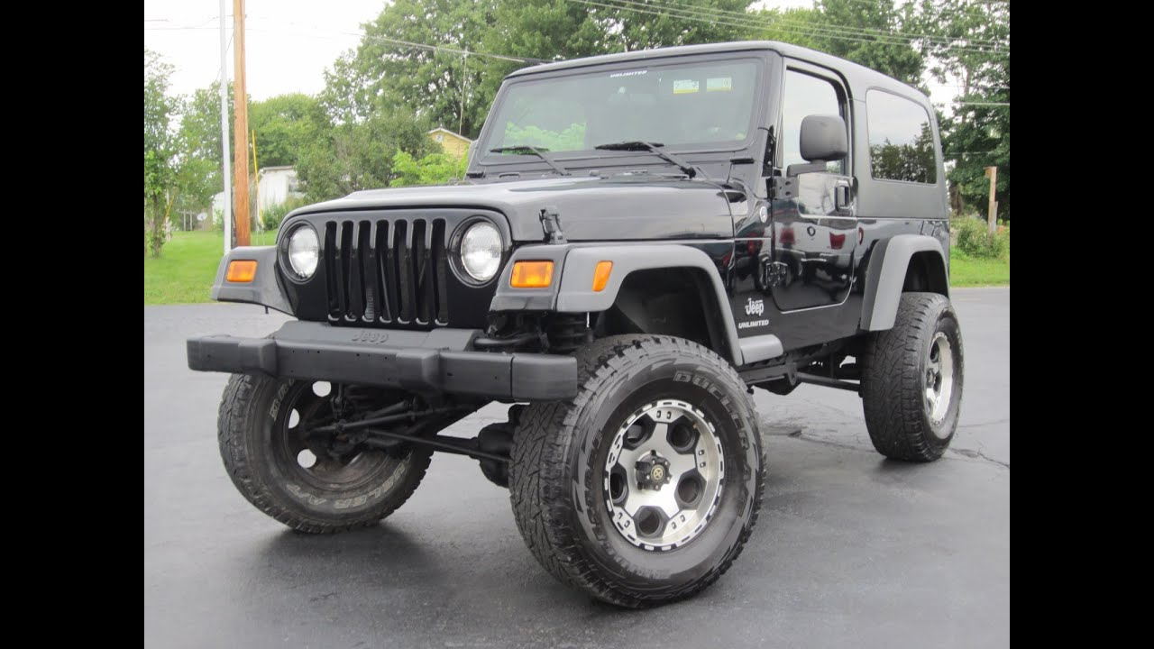 2005 Jeep Wrangler Unlimited 4x4 8in Fabtech Lift Hard Top Sold