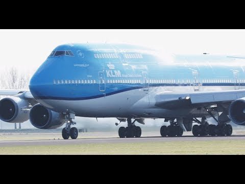 Taxiing & Takeoffs on a Windy Day @ Schiphol Airport l Plane Spotting EHAM/AMS [4K]