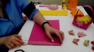 Πασχαλινό καλαθάκι χωρις πατρον!! Crafts for kids by Georgia Polydorou.