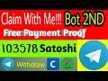 Free Telegram Bot || Claim With Me!!! 0.00103578 BTC Live 2Nd Payment Proof [[no investment ]]