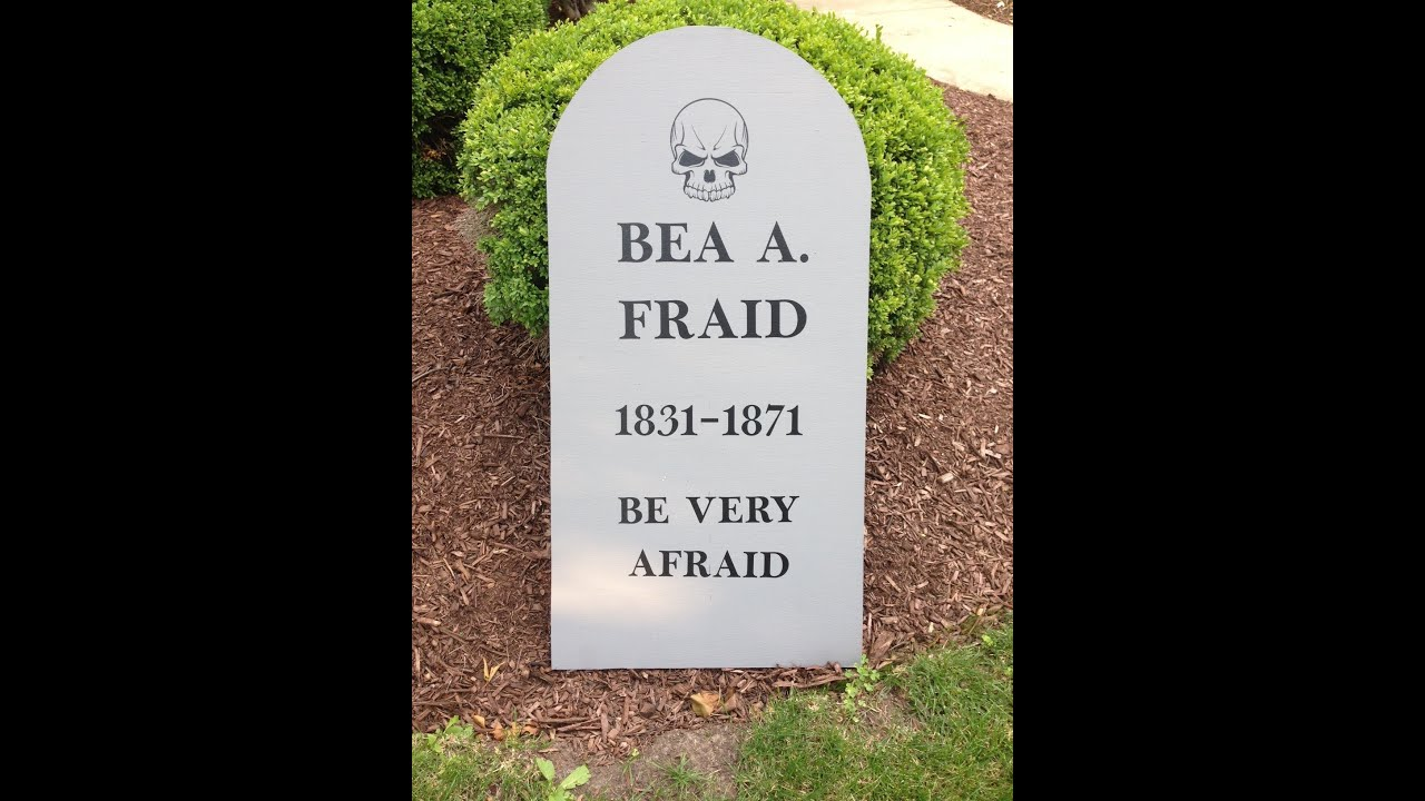 halloween tombstones prop, how to install vinyl tombstone lettering