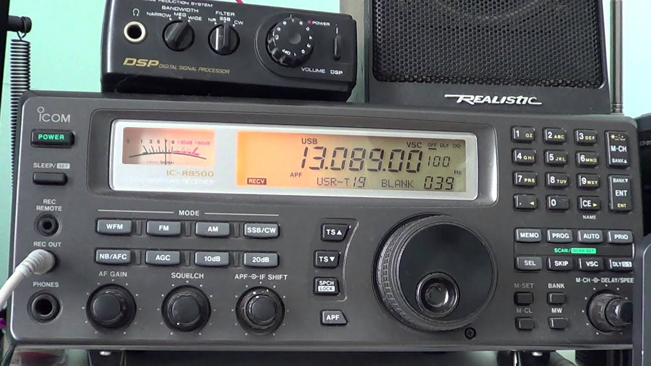 End of WLO Broadcast 13089 Khz Shortwave Maritime station in Mobile Alabama