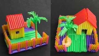 Diy Miniature Doll House: Straw House: Paper House
