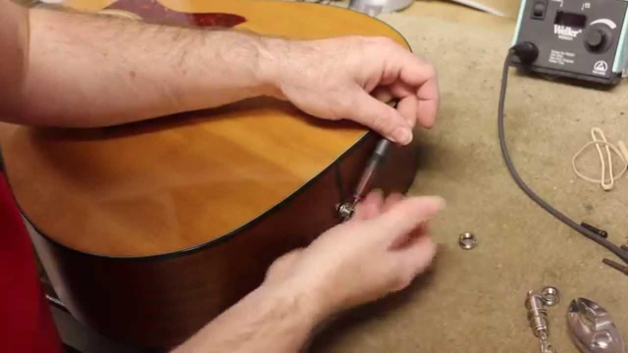 acoustic end pin jack adjustment [ 1280 x 720 Pixel ]