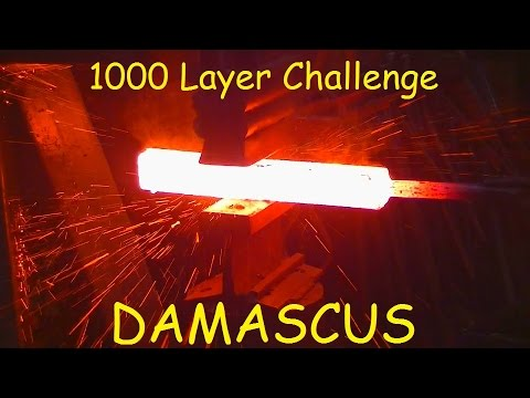 1000 LAYER CHALLENGE  FORGING  DAMASCUS