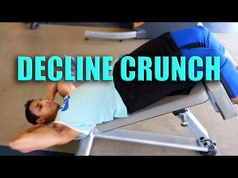 DON'T KILL YOUR BACK  How to do a proper decline crunch