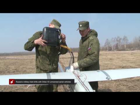 Russia's military held drills with Orlan-10 unmanned aerial vehicles