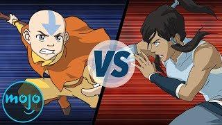 Avatar Aang vs Avatar Korra