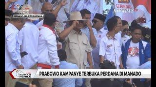 Kampanye Terbuka Perdana, Prabowo Akui Punya Ikatan Khusus dengan Warga Manado